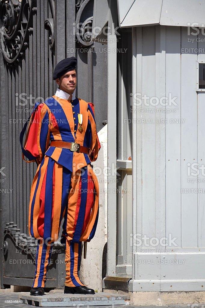 Vatican Guard royalty-free stock photo