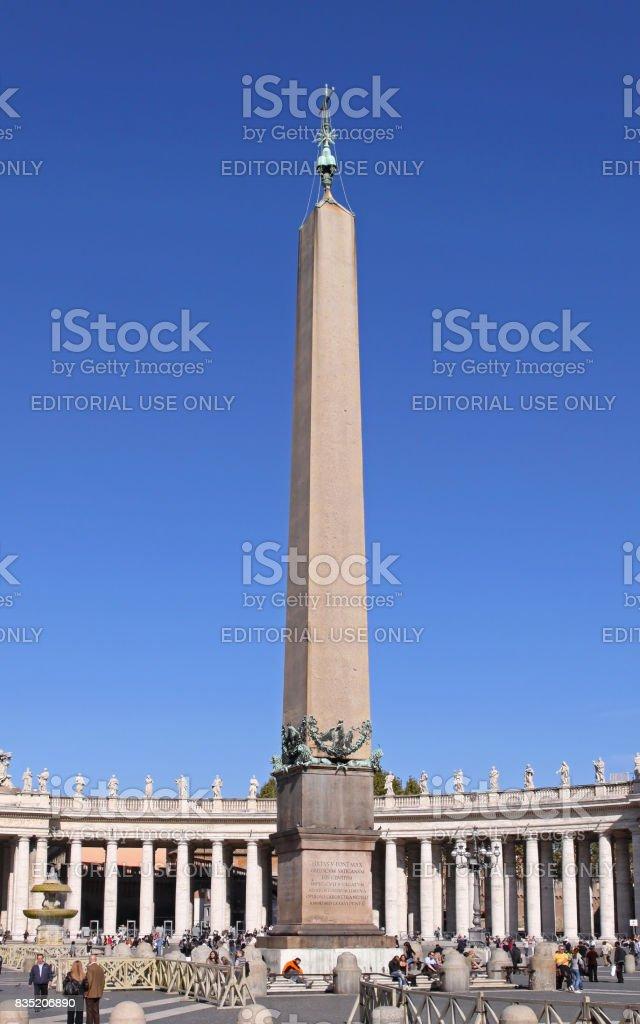 Vatican obelisk stock photo