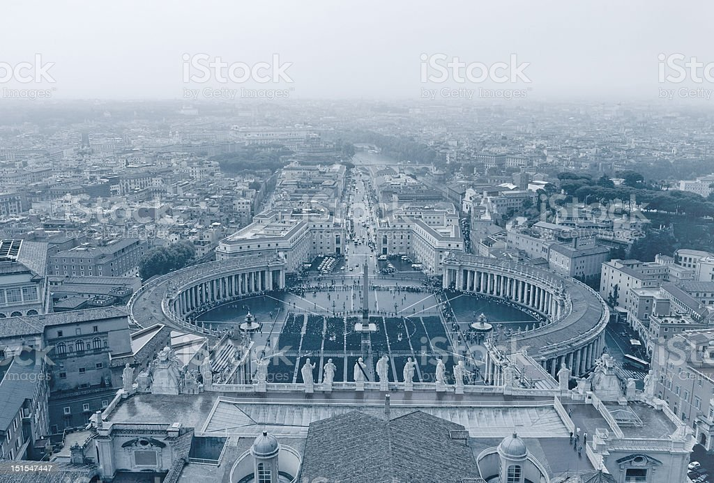 Vatican Overview stock photo