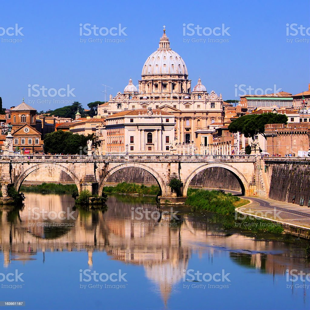 Vatican reflections royalty-free stock photo