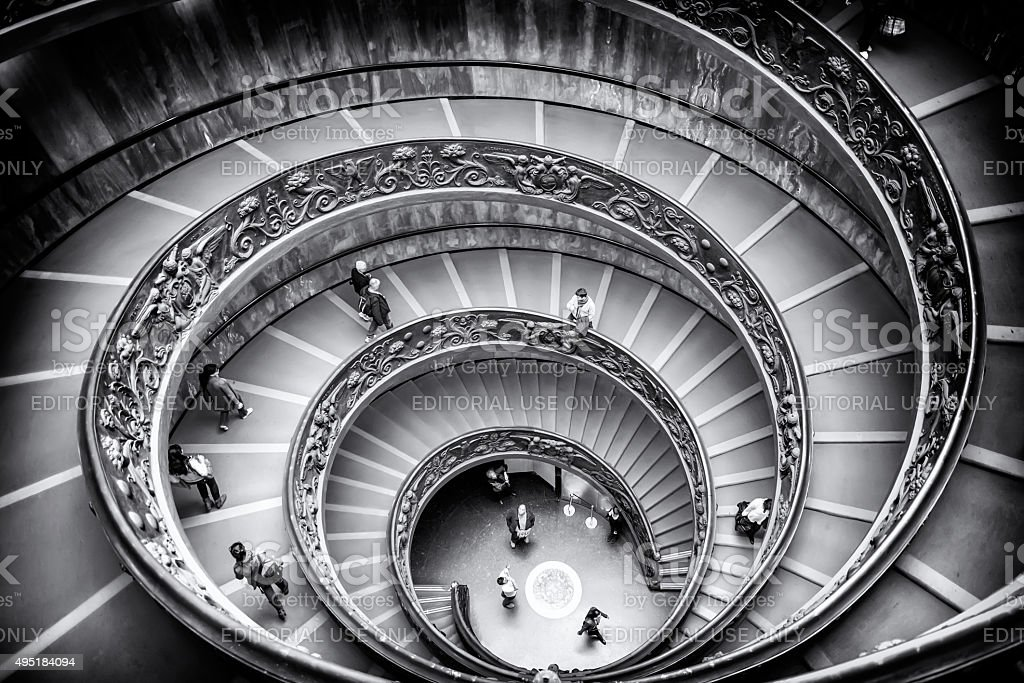 Vatican, Rome, Italy – Bramante Staircase stock photo