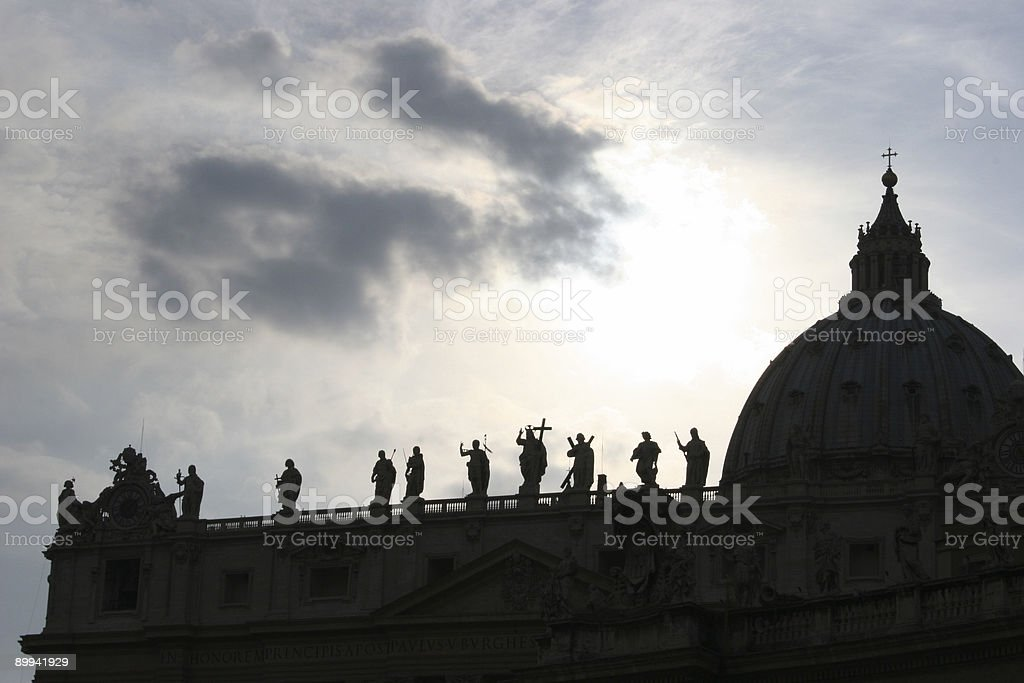 Vatican Silhouette royalty-free stock photo