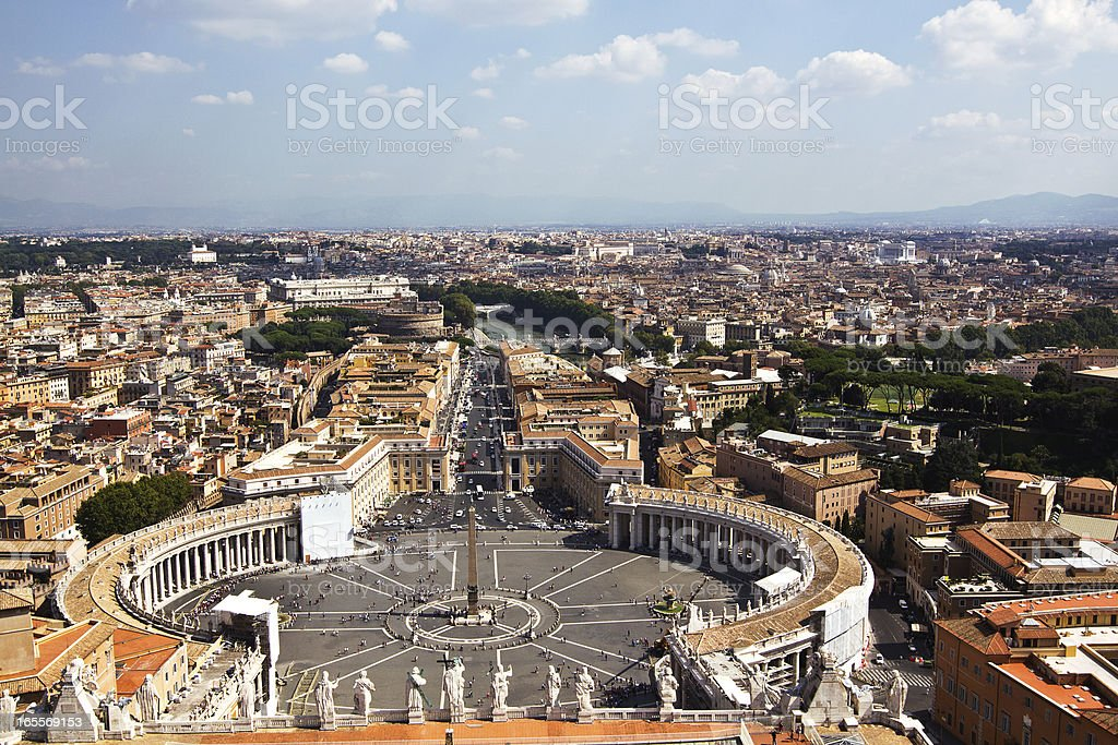 Vatican square of Saint Peter, Italy royalty-free stock photo