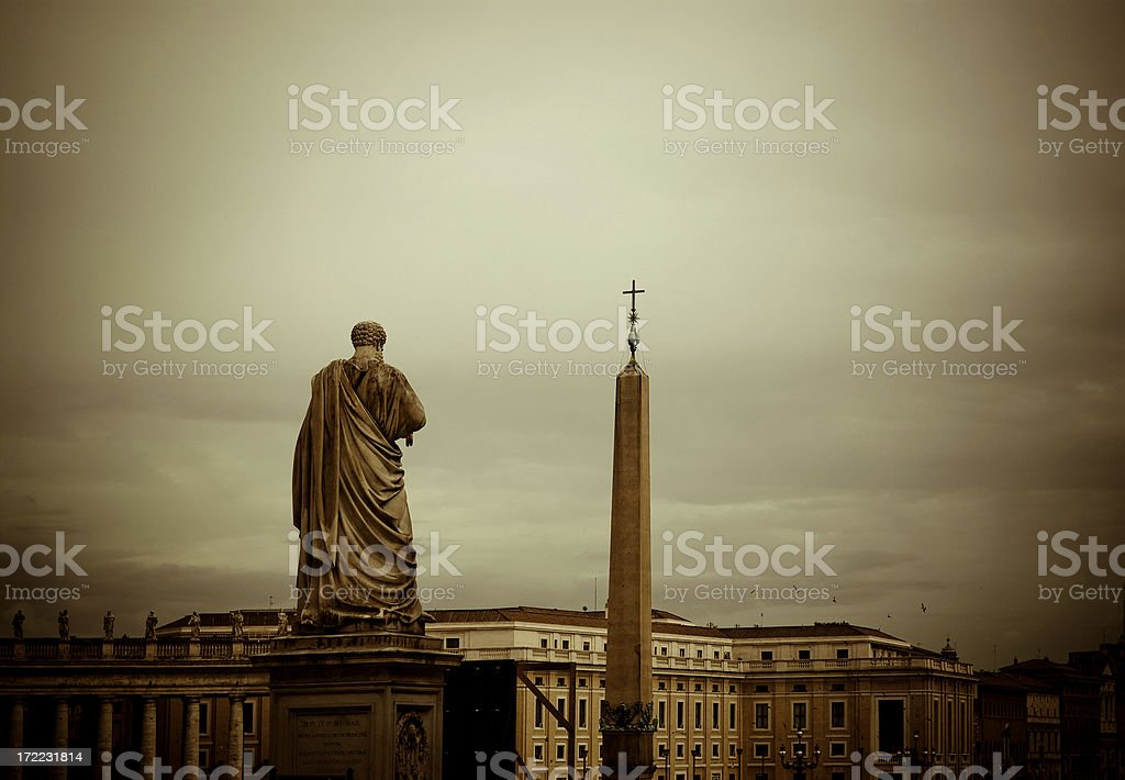 vatican square stock photo