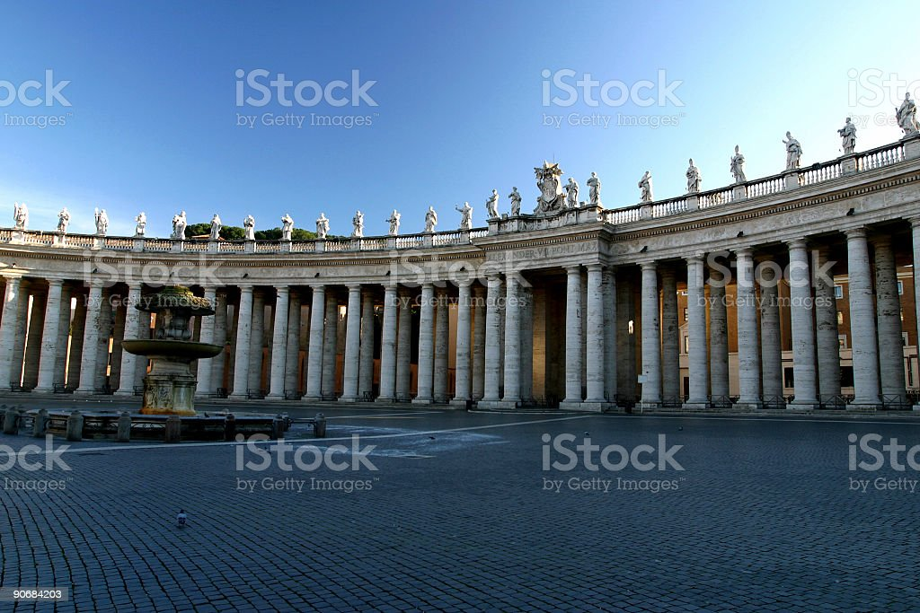 Vatican_Pillars royalty-free stock photo