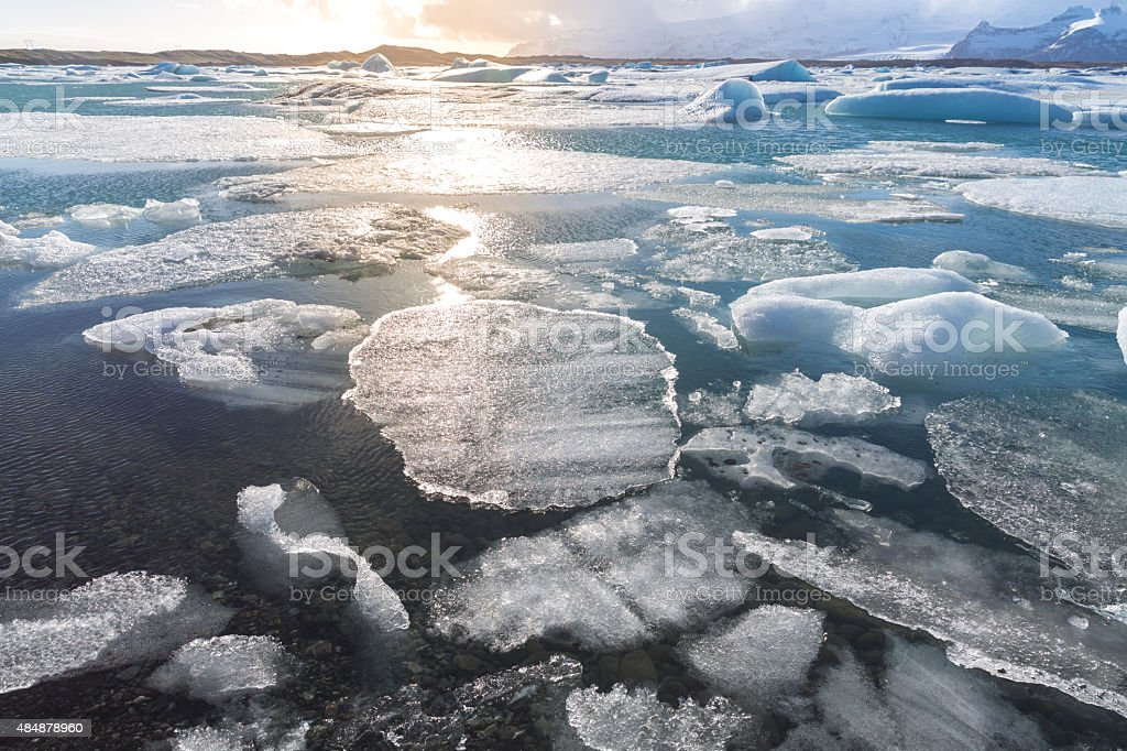 Vatnajokull Glacier Iceland stock photo