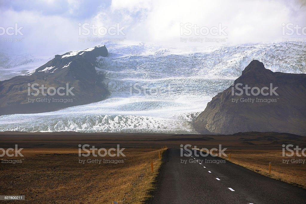 Vatnajokull glacier stock photo