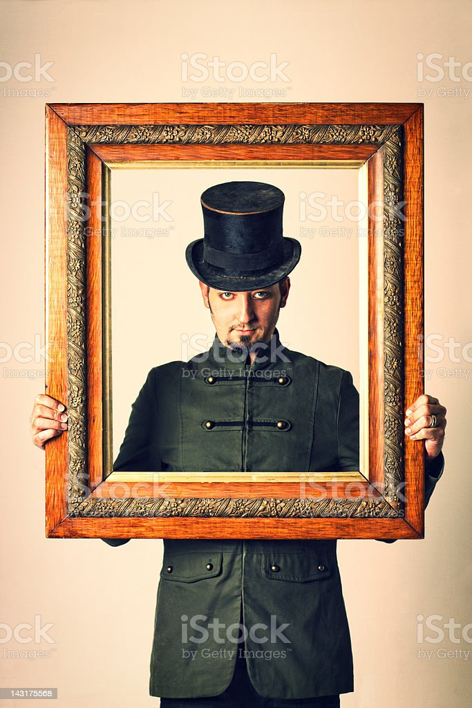 Vaudeville Man stock photo