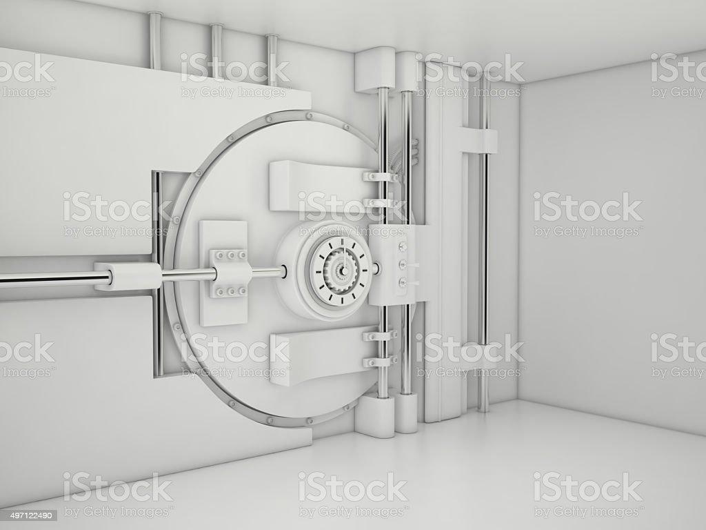 Vault Door, 3D stock photo