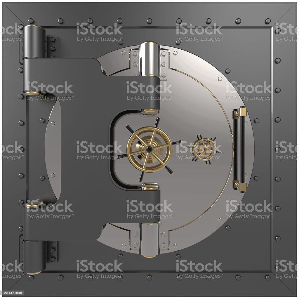 Vault door. 3D stock photo