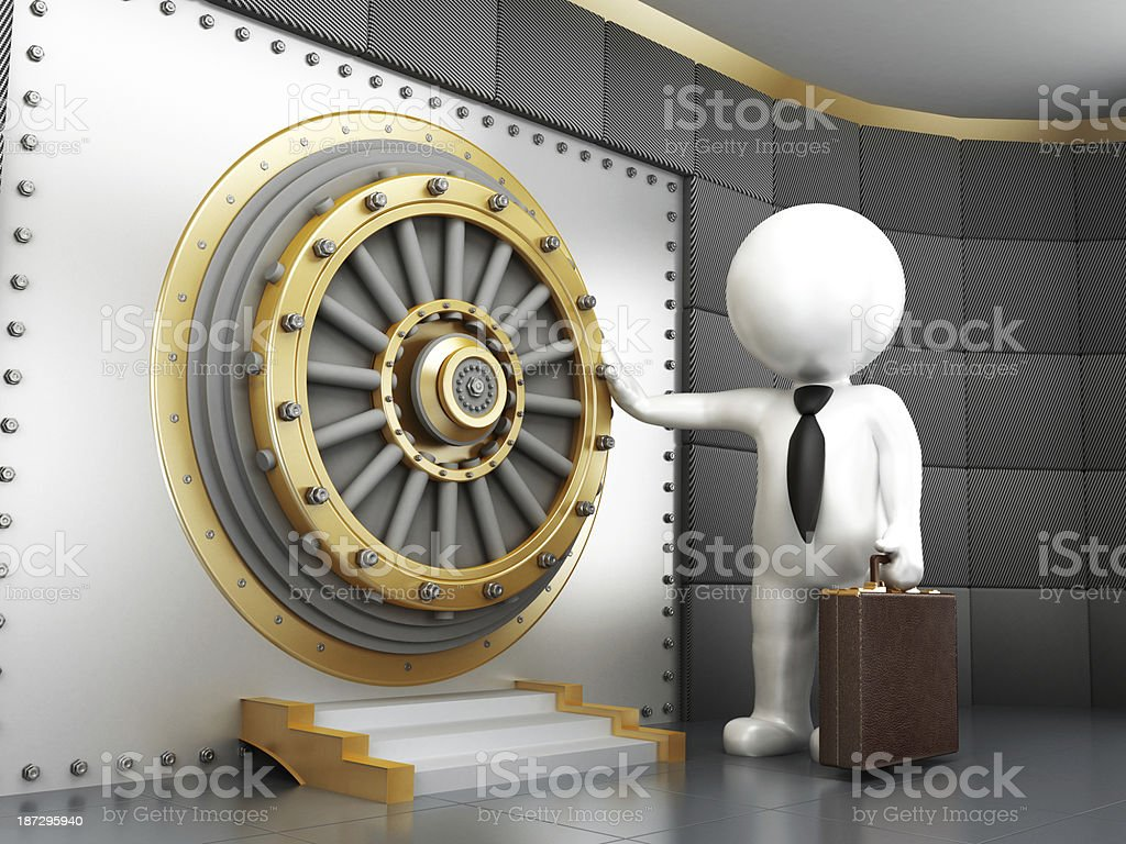 Vault door royalty-free stock photo