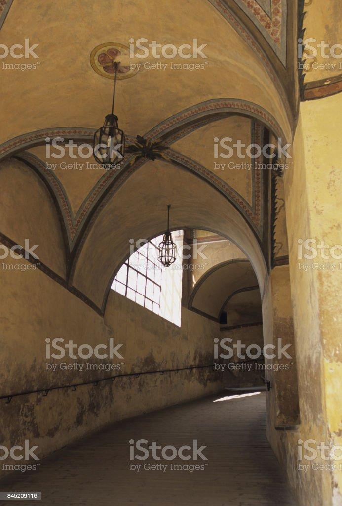Vaulted passage stock photo