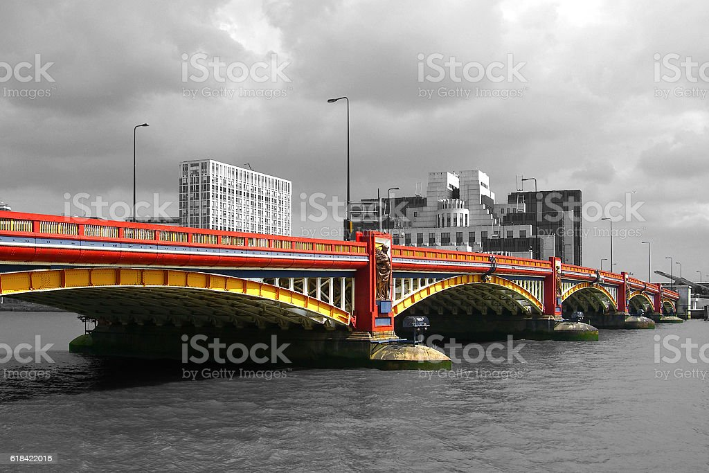 Vauxhall Bridge - London stock photo