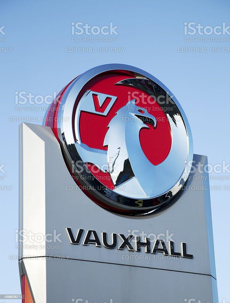 Vauxhall Motors sign and logo stock photo