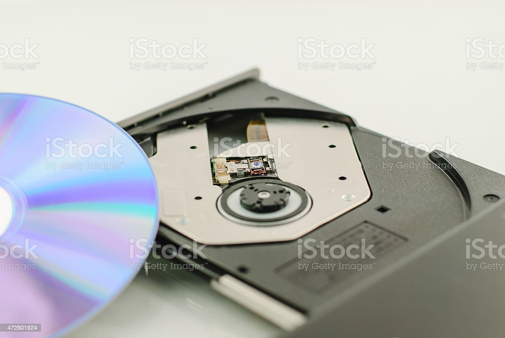 vcd rom player for music stock photo
