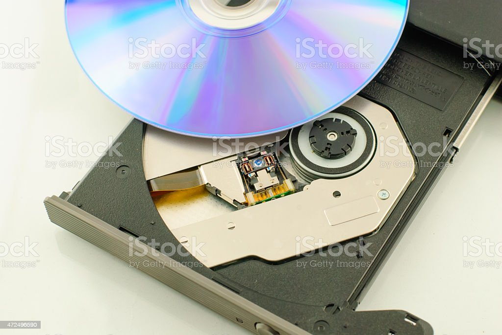 vcd rom player stock photo