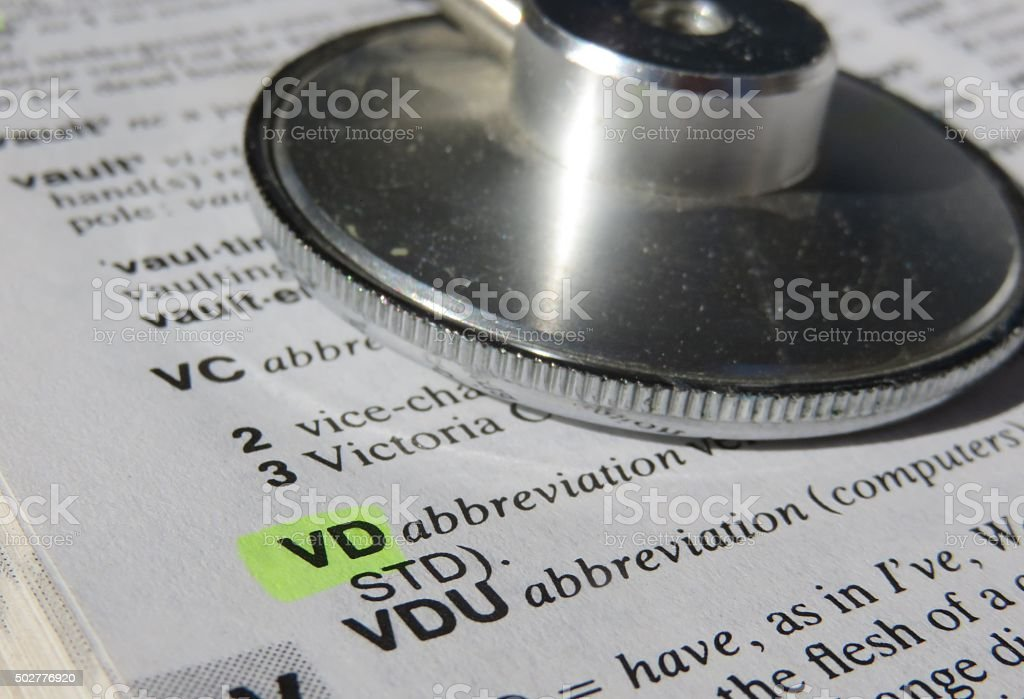 vd dictionary definition stock photo