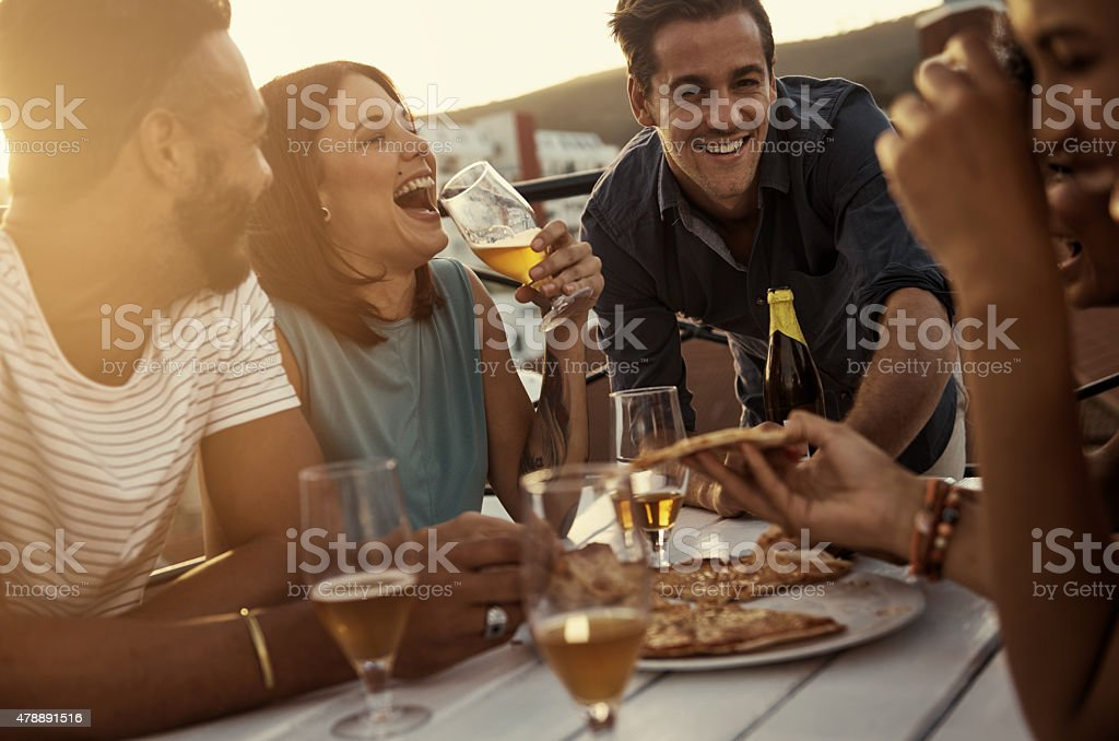 I've a feeling that tonight's gonna be a good night... stock photo