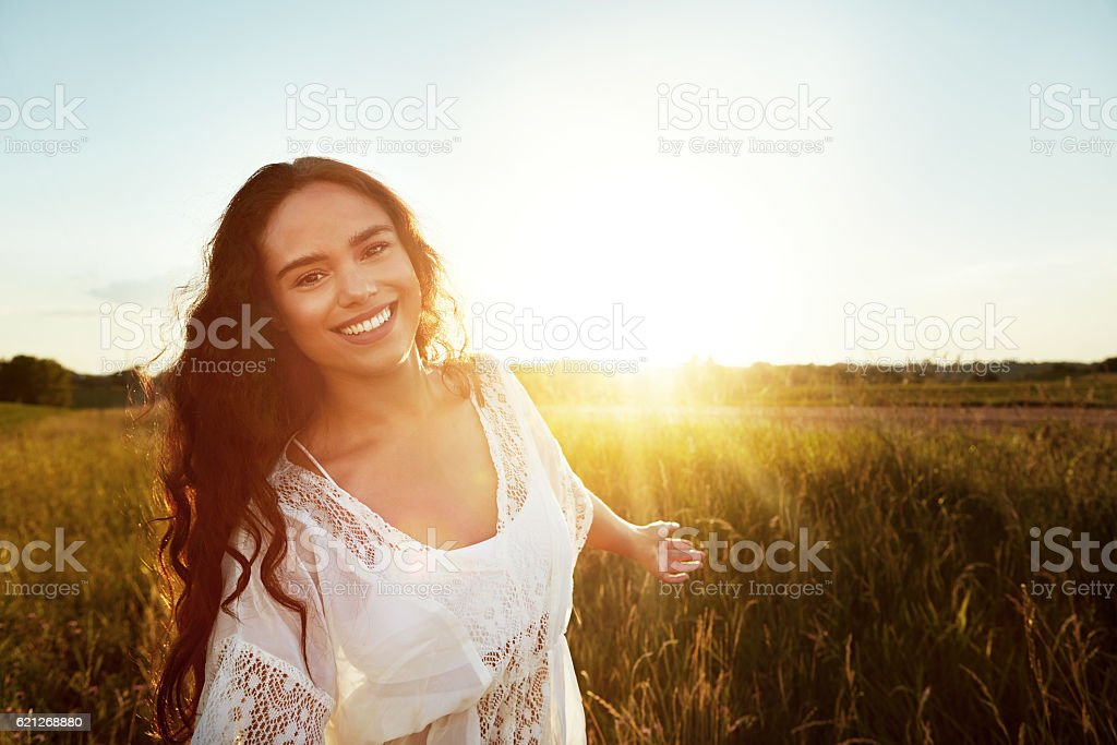 I've always loved spending time outdoors stock photo