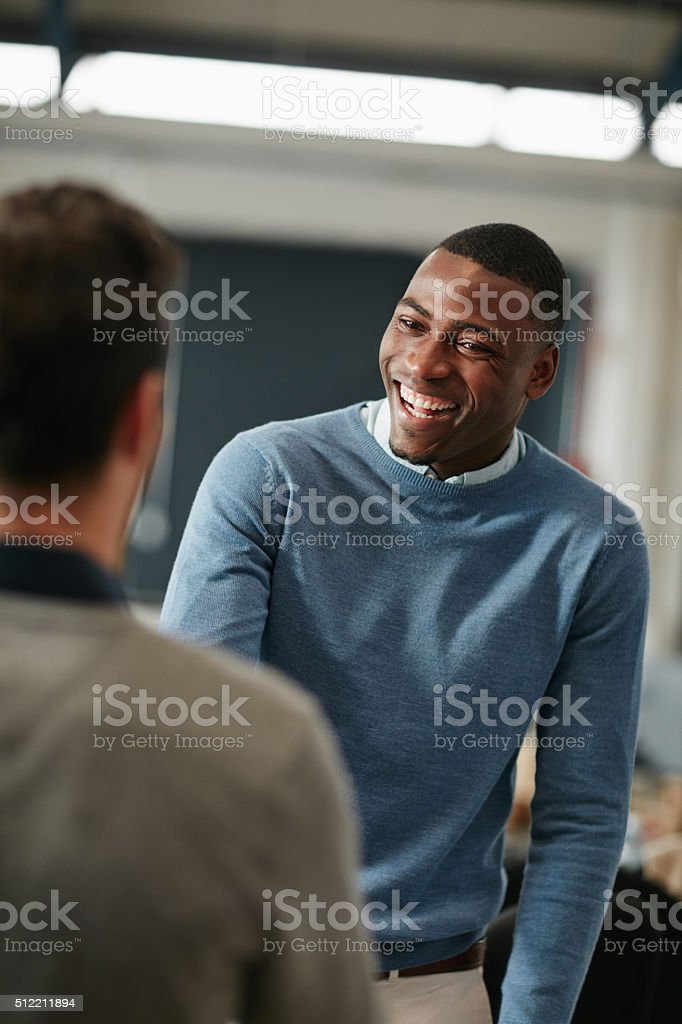I've been looking forward to meeting you stock photo