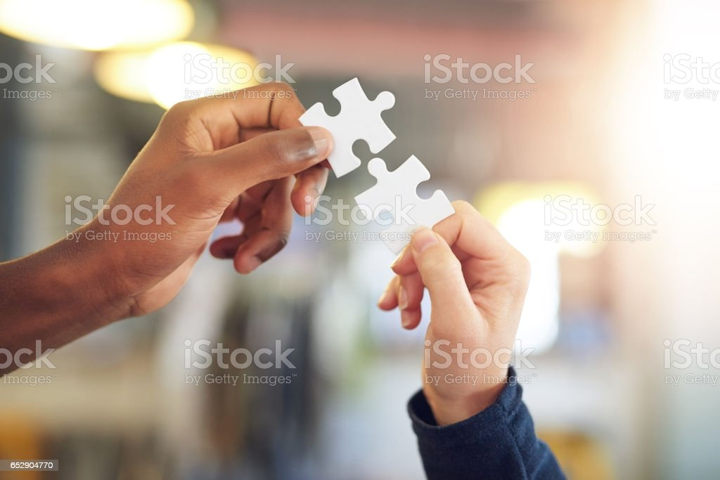 I've found my missing piece stock photo