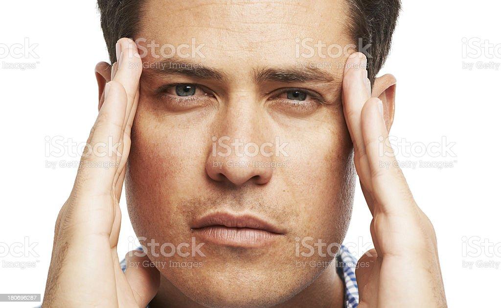 I've got a severe headache royalty-free stock photo