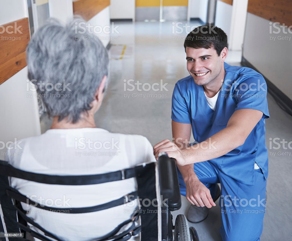 I've got good news for you stock photo