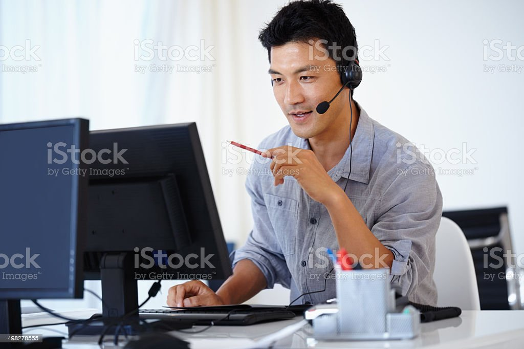I've got it on screen right now stock photo