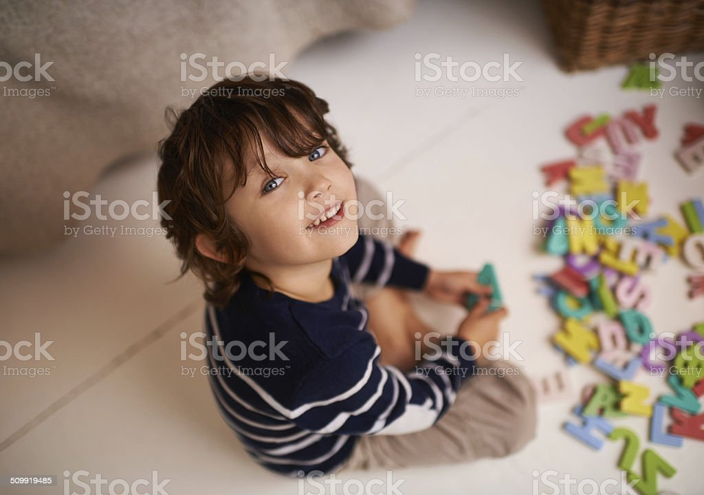 I've got my ABC's covered stock photo
