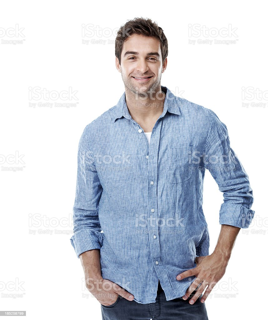 I've got the confidence to smile royalty-free stock photo