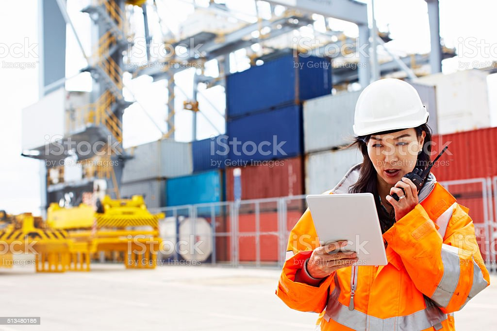 I've got the manifest, you're clear to dock stock photo