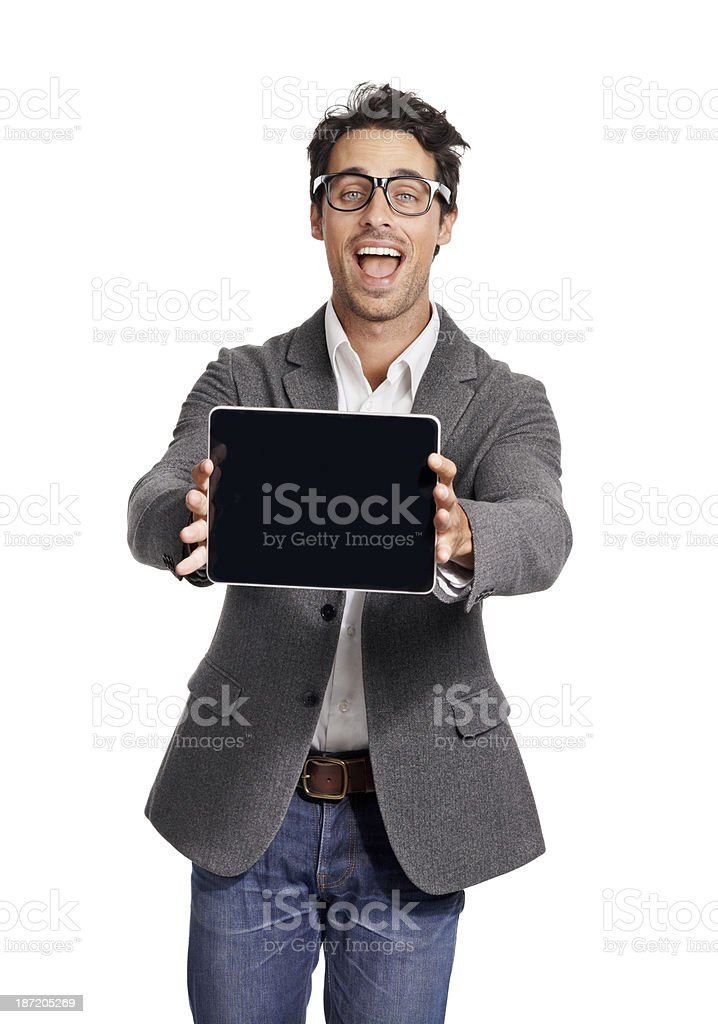 I've got the perfect tablet for you! royalty-free stock photo