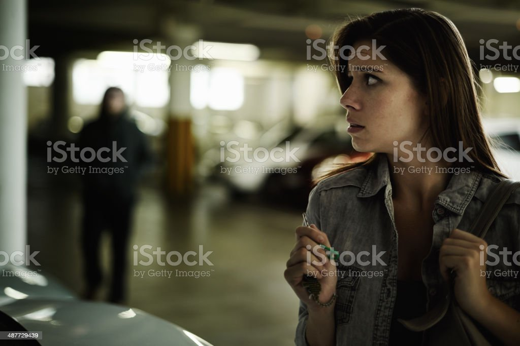 I've got to get away from here! stock photo