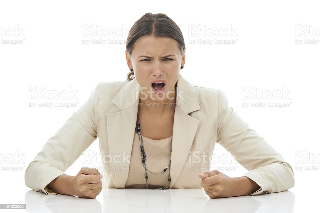 I've had enough! royalty-free stock photo