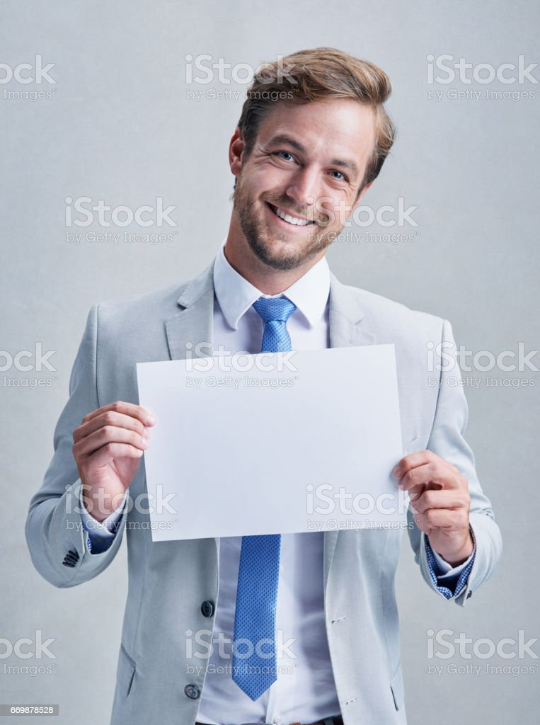 I've some good news for you stock photo