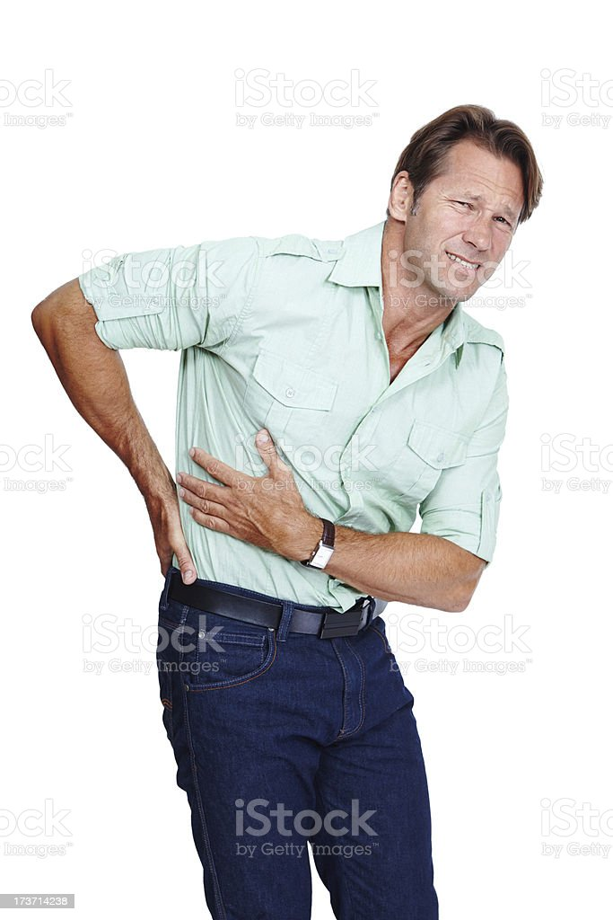 I've torn something in my back royalty-free stock photo