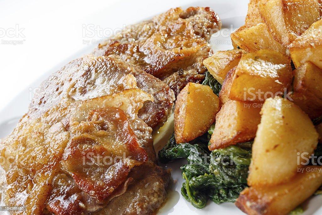 Veal a la Romana royalty-free stock photo
