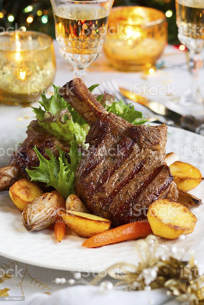 Veal chop royalty-free stock photo
