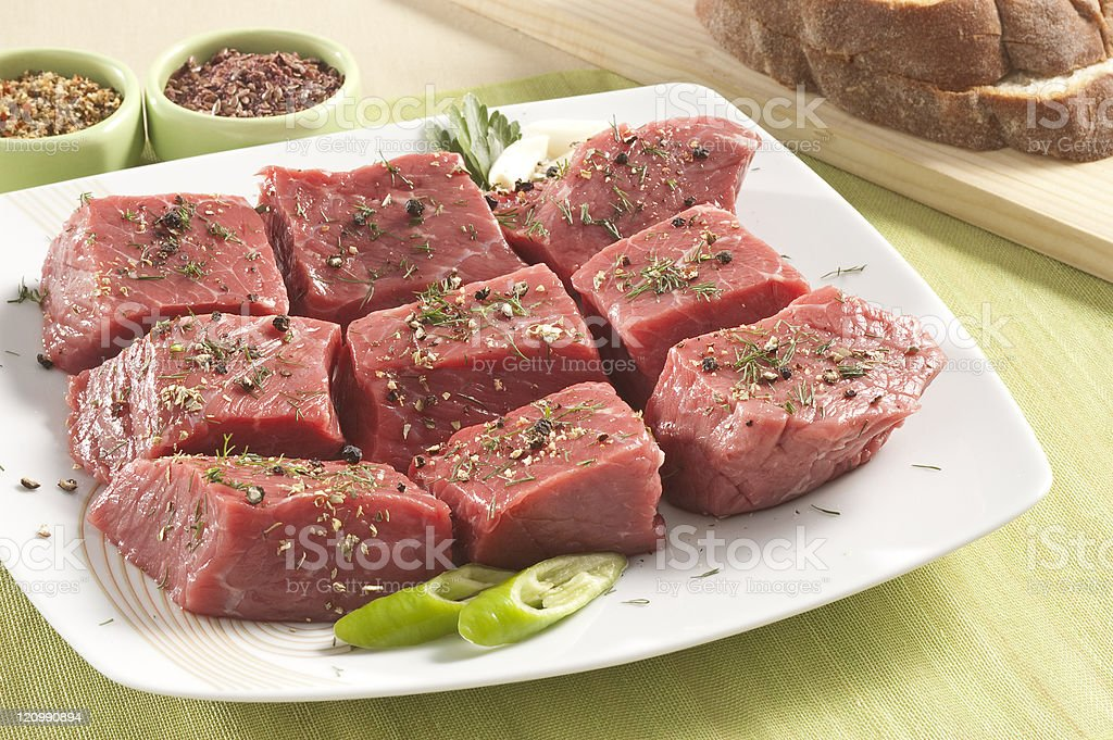 veal cut in chunks royalty-free stock photo