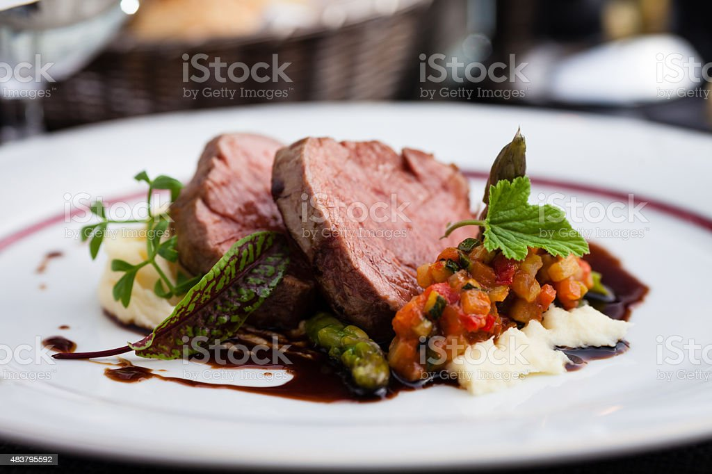 Veal fillet stock photo