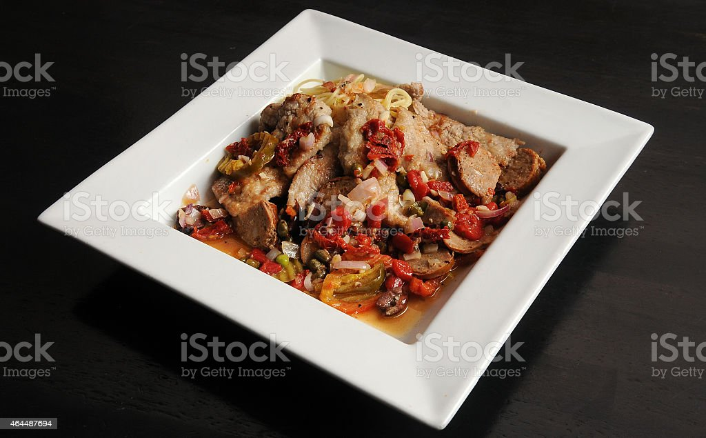 Veal Giuseppe Presented stock photo