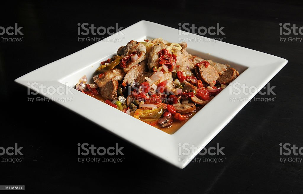 Veal Giuseppe Waiting stock photo