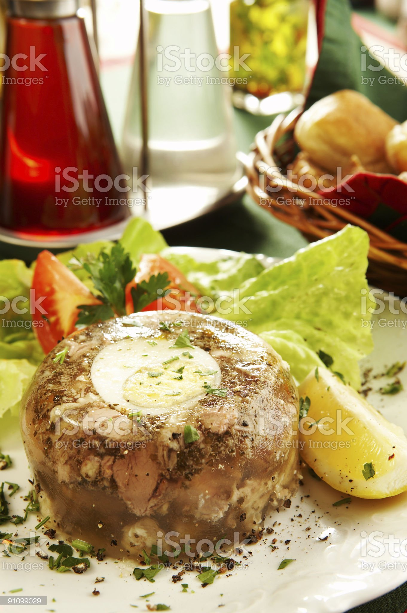 Veal Jelly royalty-free stock photo