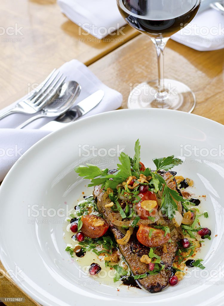 Veal Liver Dish royalty-free stock photo