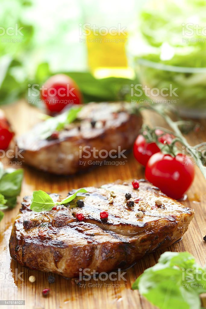Veal loin steak royalty-free stock photo
