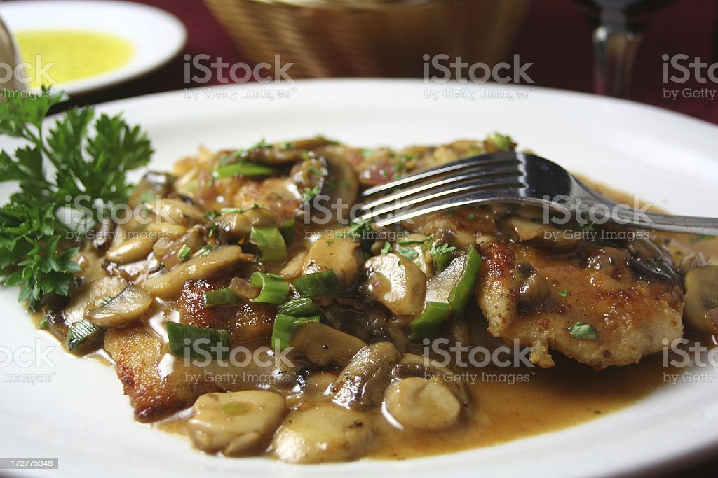 Veal Marsala stock photo
