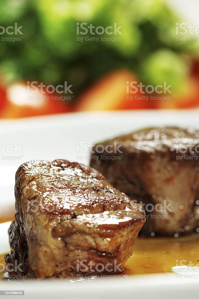 Veal Medallions royalty-free stock photo