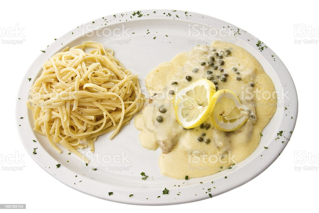 Veal Piccata stock photo