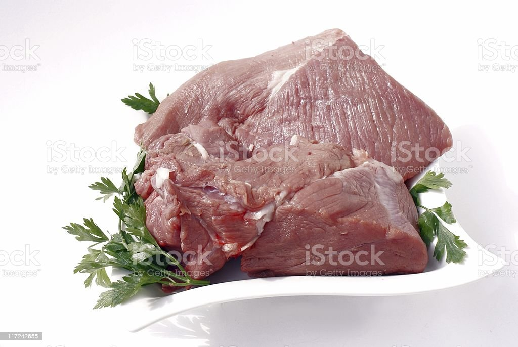 veal raw meat royalty-free stock photo