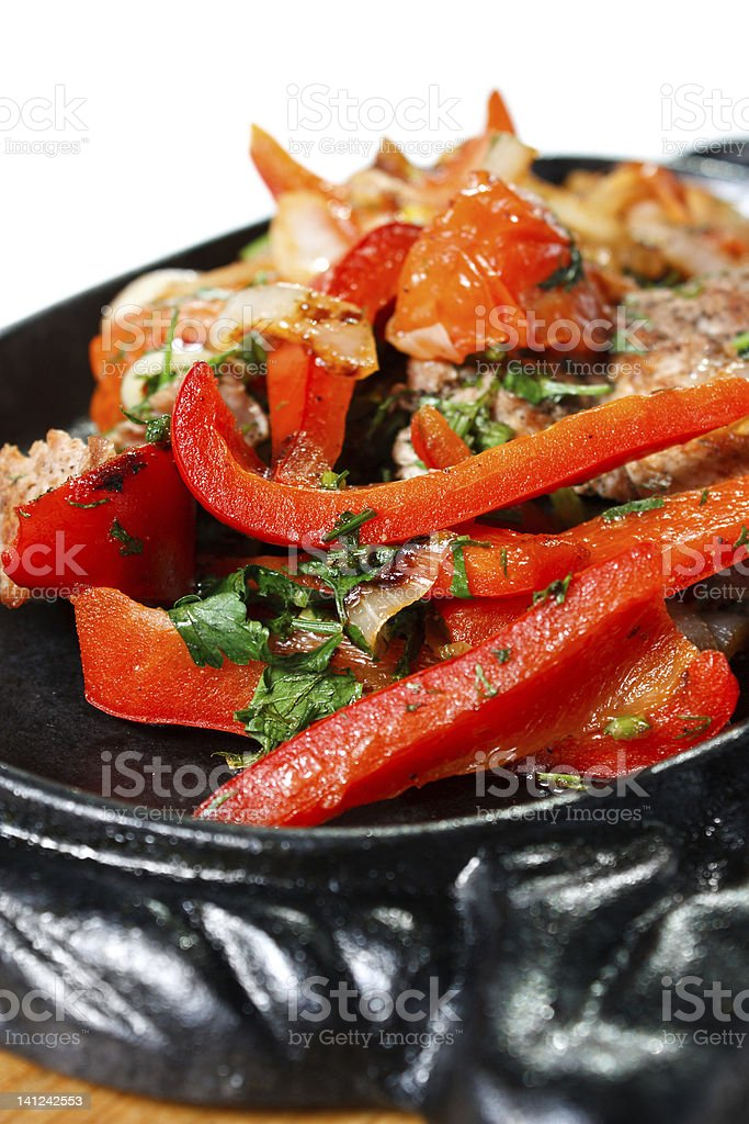 Veal Roast with Vegetables royalty-free stock photo